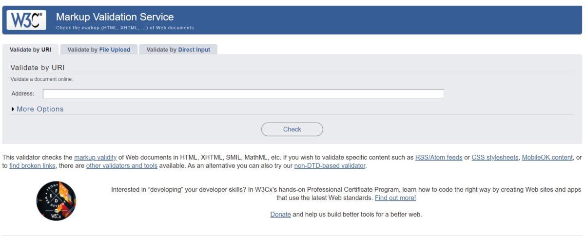 Mobile Checker от W3C