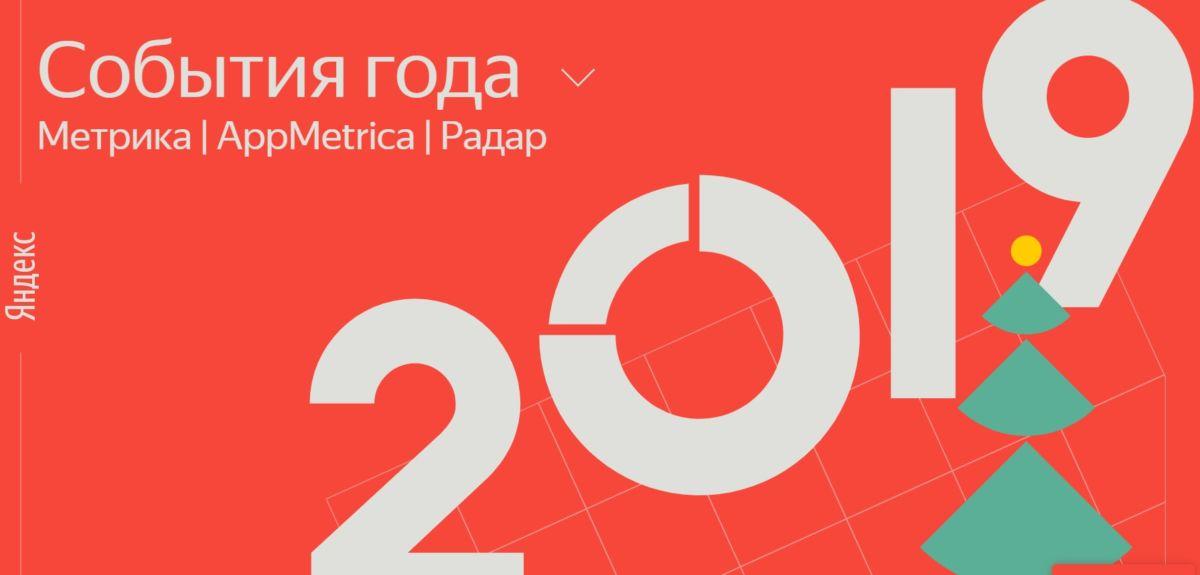 Яндекс.Метрика – значимые события 2019 года