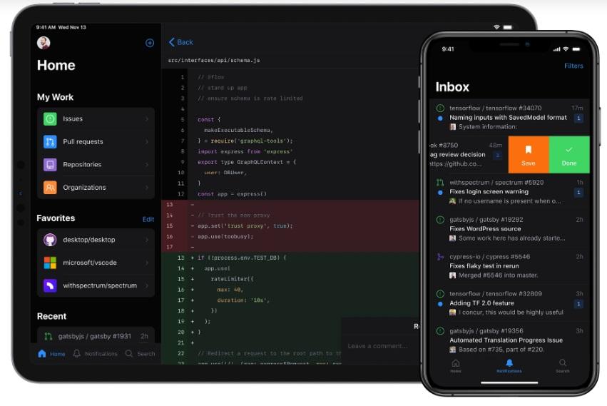 GitHub запустил мобильное приложение для iOS и Android