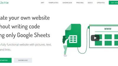 Sheet2Site