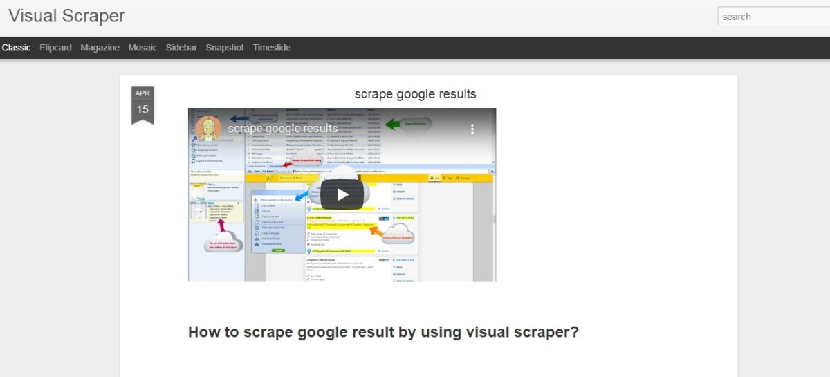 Visual Scraper