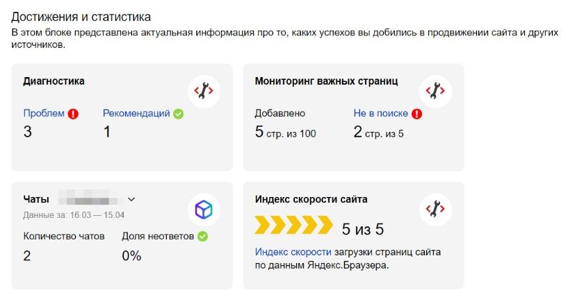 Новое достижение: скорость сайта в Яндекс вебмастер